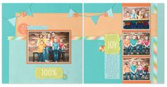 Layout inspiration featuring the new Blossom paper packet! #scrapbooking #layout