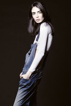 Cristina Piccone [Photo Courtesy of Fusion Models] Androgynous Girls, Androgynous Fashion, Mexican Models, Blue Jean Outfits, Expensive Dresses, You Look Pretty, Gamine Style, Fade Styles, Female Poses