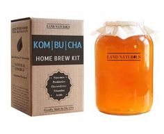 Kombucha Home Brew Kit 100% Organic: Includes our Organic Scoby Culture and Starter Liquid Packed With Beneficial Acids And Bacteria, Organic Cane Sugar, and Organic Loose Leaf Teas & More!    Save Time And Money: Never buy overpriced Kombucha bottles from the store again! Pays for itself in less than 2 batches.    MAKES A GREAT GIFT: Our simplified DIY kit is sure to be the perfect gift for any first time brewer. Consider your holiday shopping done!