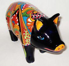 1 Mexican Pottery Talavera Pig | eBay