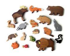 BIG SET Animal toys Forest animals 9pcs от WoodenCaterpillar