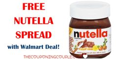 HOT FREEBIE DEAL! Get FREE Nutella Spread with a Walmart Deal! You can do this THREE TIMES!  Click the link below to get all of the details ► http://www.thecouponingcouple.com/free-nutella-spread/ #Coupons #Couponing #CouponCommunity  Visit us at http://www.thecouponingcouple.com for more great posts!
