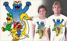Super Ernie-o World.  I think Big Bird actually kinda looks cool as Yoshi!