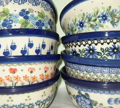 Polish pottery - love these patterns