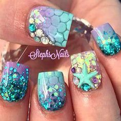 Mermaid nails just love them