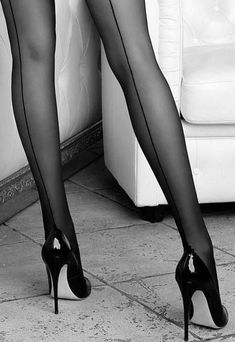 Hundreds of new looks updated every day! Nylons Heels, Stockings Heels, Nylon Stockings, Sexy Legs And Heels, Black High Heels, Look Fashion, Fashion Outfits, Womens Fashion, Fashion Tights