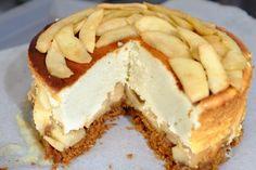 Recette de cheesecake light aux pommes caramélisées cannelle gingembre