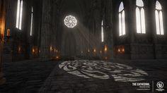 The Cathedral - Indoor Scene , Simone Phose Marrocco on ArtStation at https://www.artstation.com/artwork/WgXvX