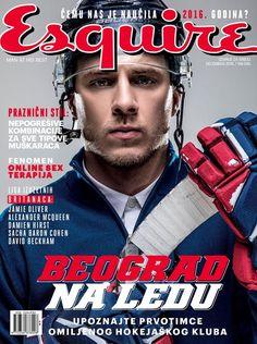 El jugador de hockey Dimitrije Filipović protagoniza la edición de diciembre de Esquire Serbia, fotografiado por el lente de Miloš Nadaždin