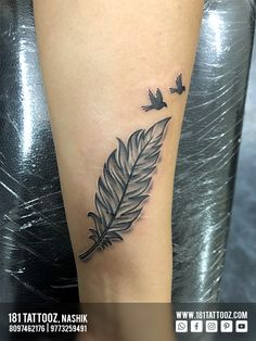 Feather tattoo designs are quite distinct and elegant, they depict hope, dreams, courage and ability to fly. Feather added with flying birds makes that complete. For more such meaningful Tattoos visit and Get your Tattoo Customized Feather Tattoo Design, Flying Birds, Creative Tattoos, Meaningful Tattoos, Tattoo Designs, Dreams, Studio, Elegant, How To Make