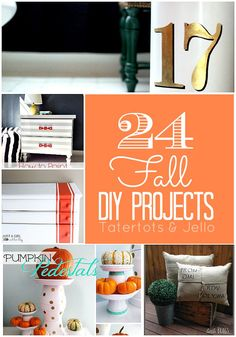 24 Fall DIY Projects!! -- Tatertots and Jello #DIY #Fall