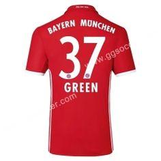 2016/17 Bayern München GREEN Home Red Thailand Soccer Jersey