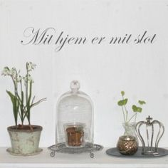 wallsticker - Mit hjem er mit slot