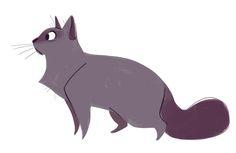 Daily Cat Drawings — 521: Purple Cat