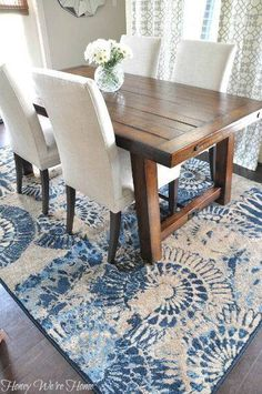 A Bright And Beautiful Breakfast Room With Our Benchwright Table RUG