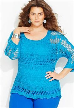 Crochet - queen size on Pinterest Plus size, Crochet Tunic and ...