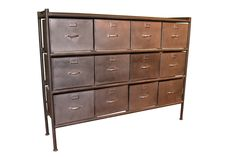 "*The cabinet drawers accommodate a standard file folder. If using hanging file folders it is recommended that you use every other drawer in the row. Dimensions: 52""W x 12""D x 40""H"