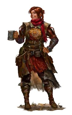 Female Human Cleric of Cayden Cailean - Pathfinder PFRPG DND D&D d20 fantasy