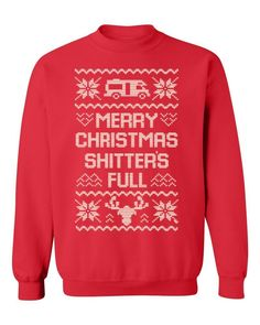 Best mens ugly christmas sweater, New Merry Christmas Shitter's Full Ugly Christmas Crewneck Sweatshirt funny Xmas tee Mens Ugly Christmas Sweater, Merry Christmas Ya Filthy Animal, Funny Xmas, Funny Sweatshirts, Sport Casual, Crew Neck Sweatshirt, Tees, Clothes, Outfits