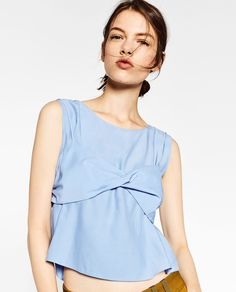 TOP WITH FRONT KNOT-Tops-TOPS-WOMAN-SALE | ZARA United States