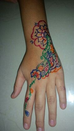 simple color henna