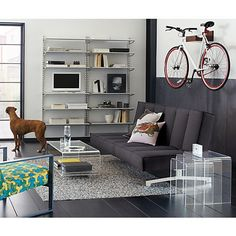 Ways to Store Your Bike That Looks Cool - Wood Wall Bike Rack from CB2