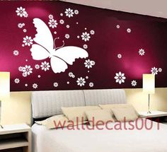 removable Vinyl Wall Decals Wall StickerButterfly por walldecals001