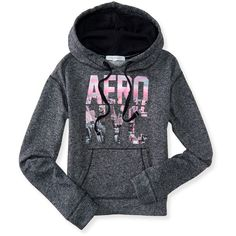 Aero NYC Pullover Hoodie ($20) ❤ liked on Polyvore featuring tops, hoodies, shirts, black, pullover hoodies, aeropostale hoodies, pullover hoodie, cotton hoodies and cotton hooded sweatshirt