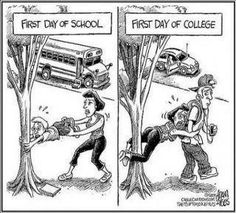 Funny pictures about First day of high school vs. first day of college. Oh, and cool pics about First day of high school vs. first day of college. Also, First day of high school vs. first day of college.