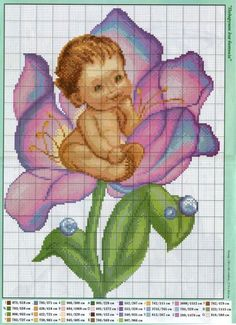 Cross Stitch Family, Cross Stitch For Kids, Cute Cross Stitch, Cross Stitch Borders, Cross Stitch Rose, Cross Stitch Flowers, Counted Cross Stitch Patterns, Cross Stitch Charts, Cross Stitch Designs