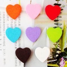 Free Shipping Love Heart Wooden Fridge Sponge Stickers Refrigerator Stickers-inFridge Magnets from Home & Garden on Aliexpress.com
