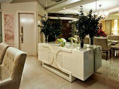 Salas e lavabo maravilhosos - confira o antes e depois da casa da leitora! - DecorSalteado