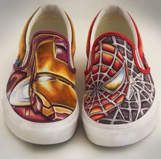 Shoes For Nicola by BBEEshoes on DeviantArt - Fictional Character That I Created: Ericka James ♉️ - Schuhe Custom Painted Shoes, Hand Painted Shoes, Custom Vans, Custom Shoes, Custom Converse, Sneaker Art, Sneaker Boots, Ballerinas, Marvel Shoes