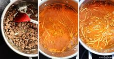 One-Pot Spaghetti is quick, easy, & delicious, with only one pot to wash for a family-pleasing dinner.you'll never make regular spaghetti again! Spaghetti With Ground Beef, One Pot Spaghetti, Spaghetti Recipes, Pot Recipe, One Pot Meals, Pasta Dishes, Easy, Desserts, Food