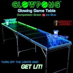 Beer Pong Glowing Table