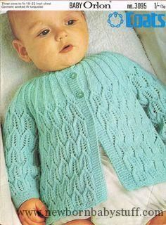 Baby Knitting Patterns Coats 3095 baby matinee coat vintage knitting by Ellisadine,...
