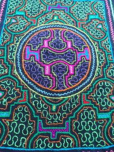 This listing is for a one of a kind Shipibo hand embroidered cloth that can be used in a variety of ways, e.g. as a table cloth, an altar, cushion cov