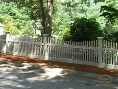 Picket fence, Jamestown style, in taupe vinylopennew_vinyl-fence-picket-28-large.jpg (600×450)