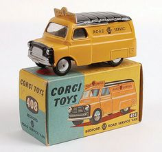 "Mettoy Corgi diecast No.408 Bedford ""AA Road Service"" Van, divided windscreen, 1957-59"