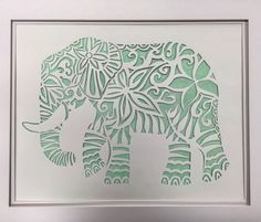A personal favorite from my Etsy shop https://www.etsy.com/listing/264675799/elephant-paper-cut