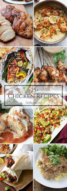 25+ Chicken Recipes | NoBiggie.net