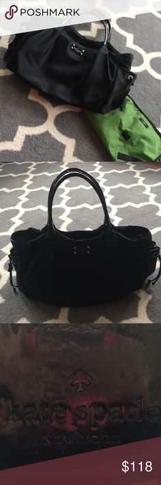 🎉 FLASH SALE 🎉 kate spade diaper bag ♠️ In great used condition with matching changing pad included. Black nylon - easy to wipe clean and lots of pockets on the interior as well as two side pockets! kate spade Bags Baby Bags