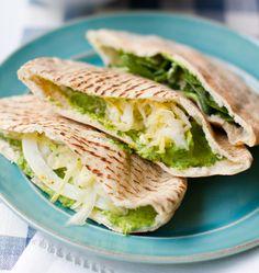 Spinach Hummus Pitas