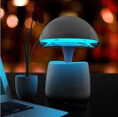De Aladdin led lamp bluetooth luidspreker met power bank en tafellamp