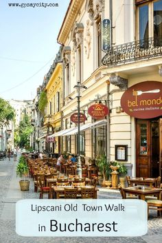Lipscani is a very modern old town in Bucharest, Romania - a place with a medieval heart and buildings to match, but also where you can get down and party with the hip young crowd.