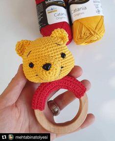 ✔ Handmade Toys For Kids Free Crochet Crochet Baby Toys, Crochet Animals, Free Crochet, Knit Crochet, Winnie Poo, Winnie The Pooh, Handmade Baby, Handmade Toys, Baby Mobile