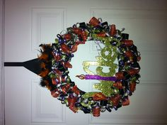 Witch wreath I made a couple of years ago!
