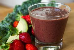 Berry, Spinach and Avocado Super Smoothie #justeatrealfood #nadialim