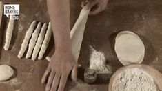 Knopf flechten / Braiding Knob on Vimeo Bread Recipes, Cooking Recipes, Pretzel Sticks, Bread And Pastries, How To Make Bread, Ballet Shoes, Play, Brot