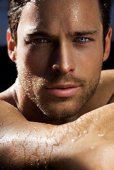 Blue eyes. Model James Green shot by Kasia G.